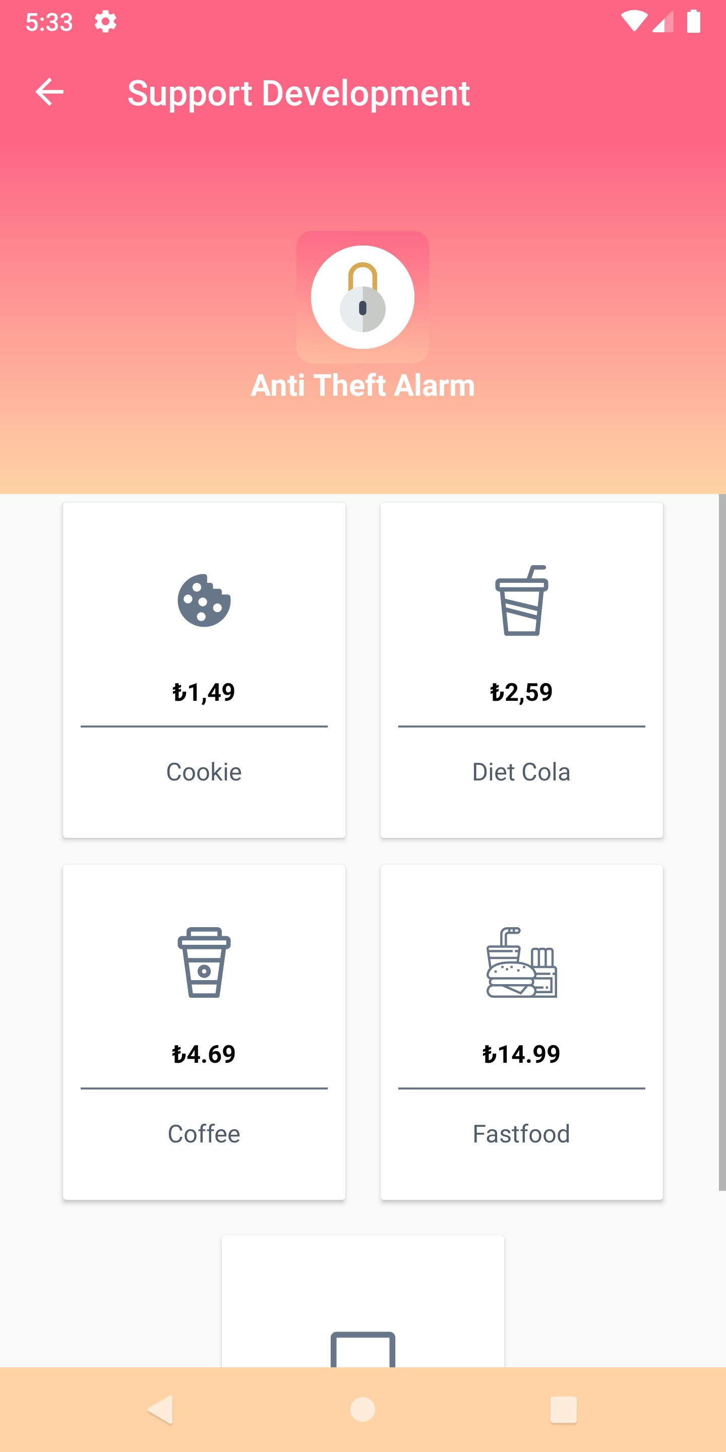 Anti Theft Alarm - Android Source Code Screenshot 9