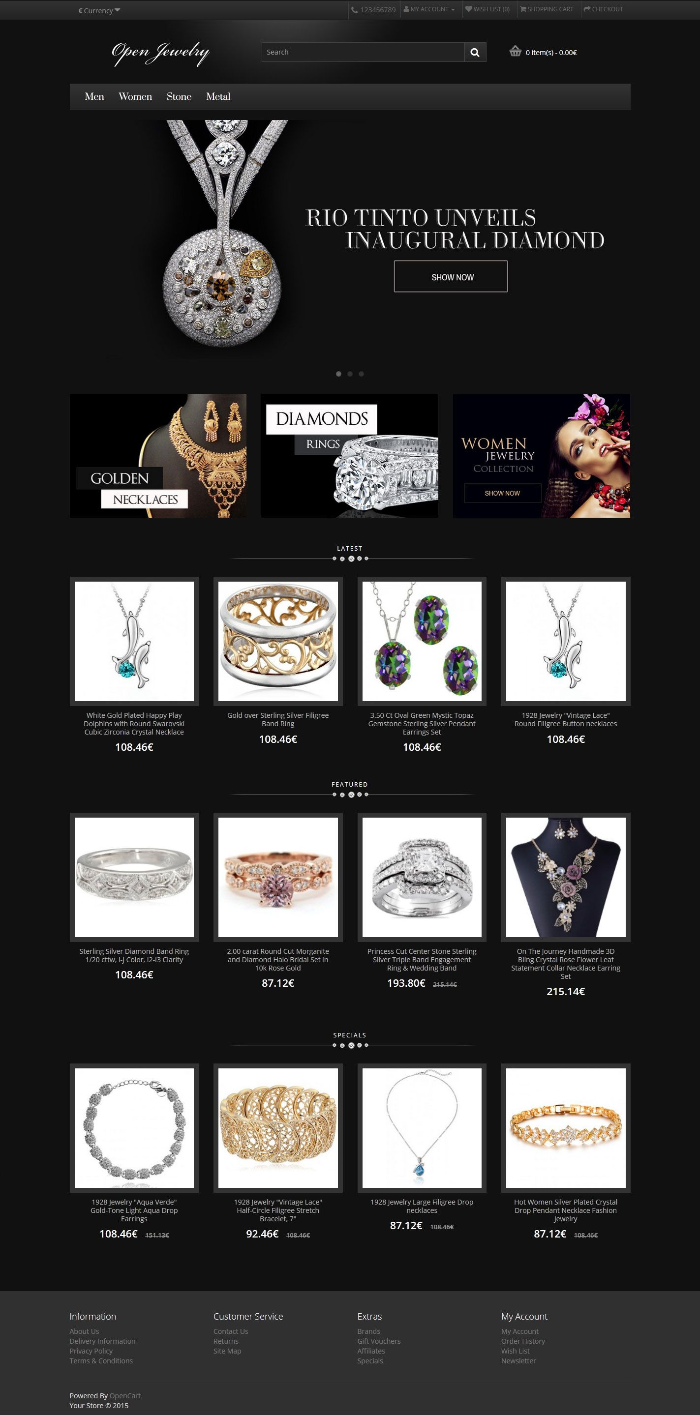 Open Jewelry - Responsive OpenCart Theme Screenshot 1