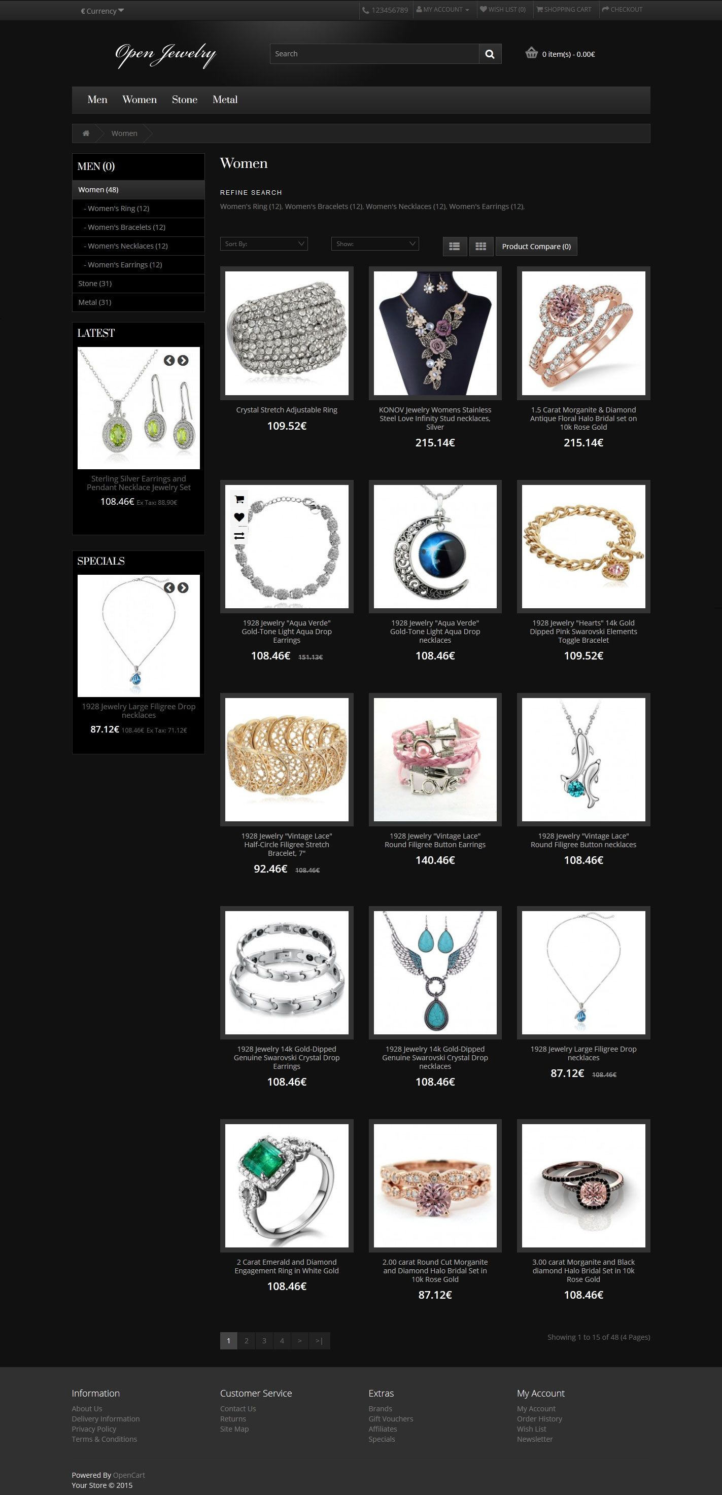 Open Jewelry - Responsive OpenCart Theme Screenshot 2
