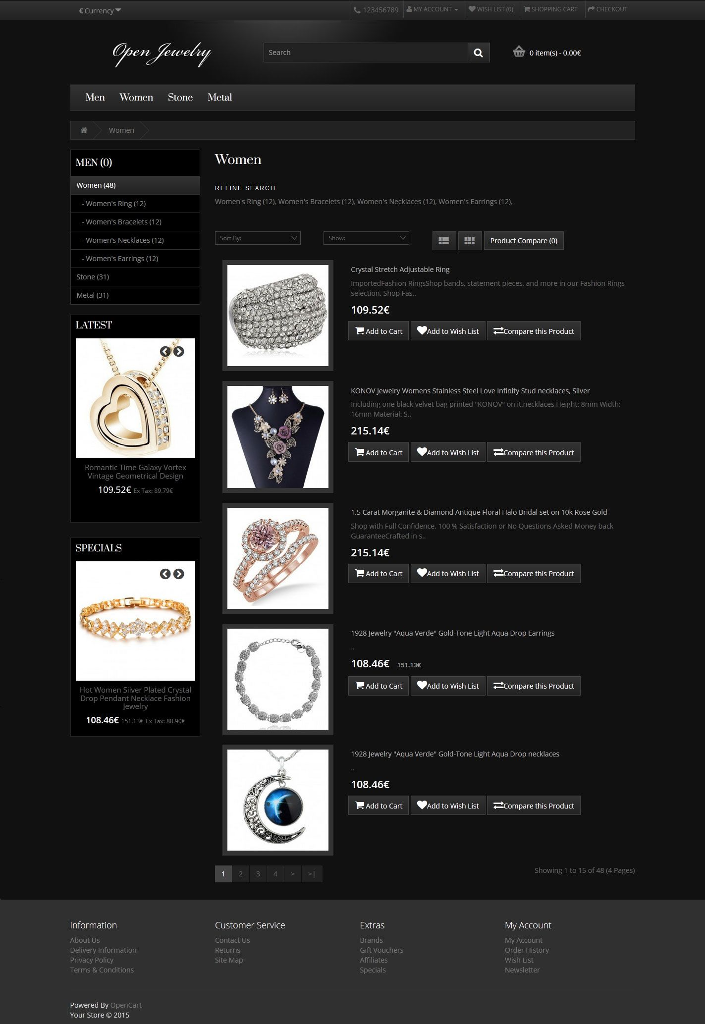 Open Jewelry - Responsive OpenCart Theme Screenshot 3