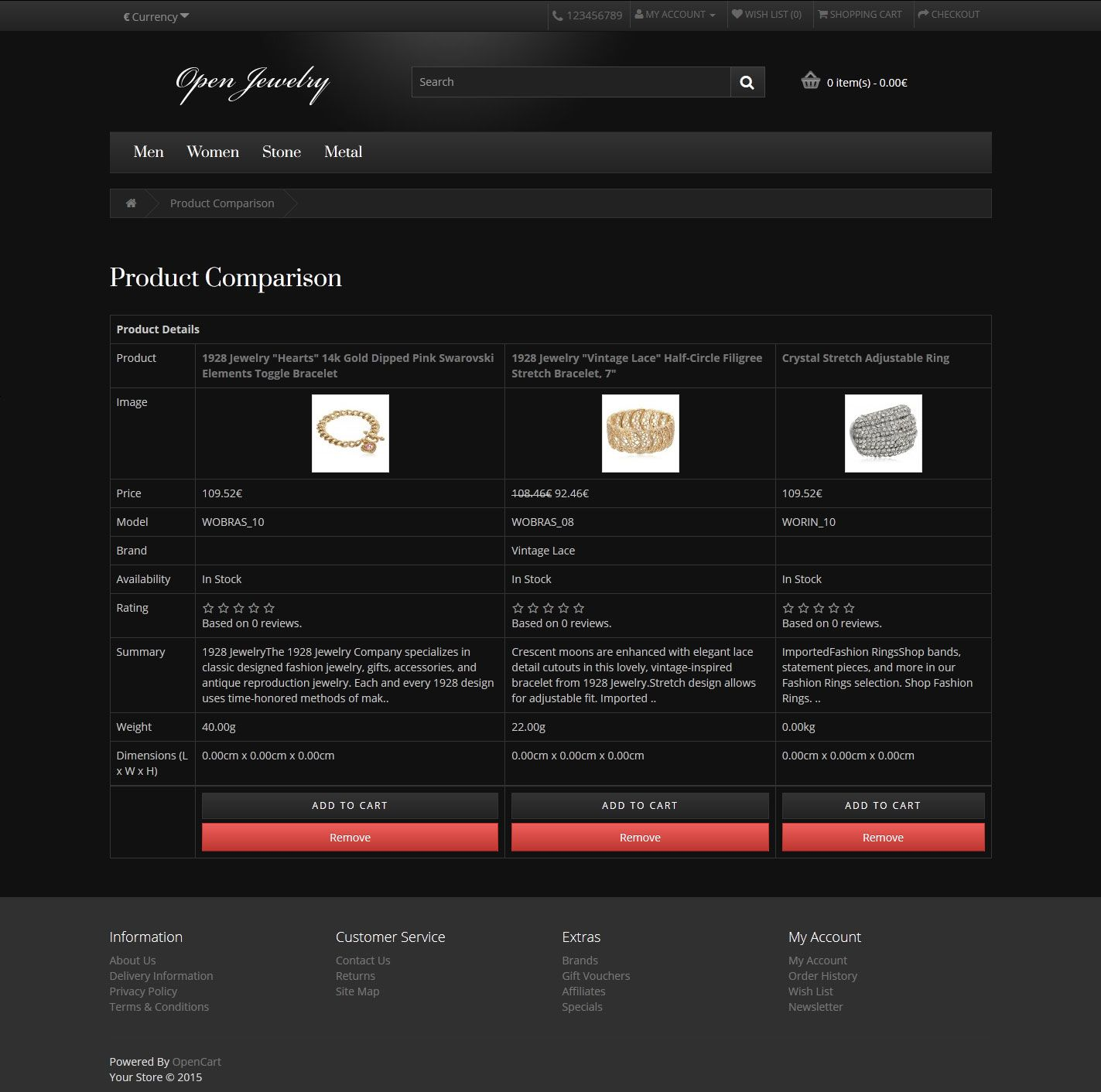 Open Jewelry - Responsive OpenCart Theme Screenshot 4