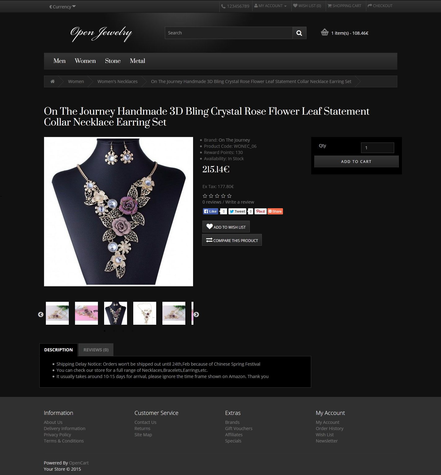 Open Jewelry - Responsive OpenCart Theme Screenshot 5