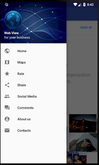 Web View - Android App Template Screenshot 5