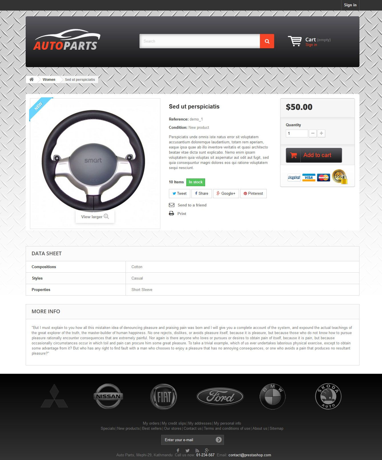Auto Parts - PrestaShop Theme Screenshot 3