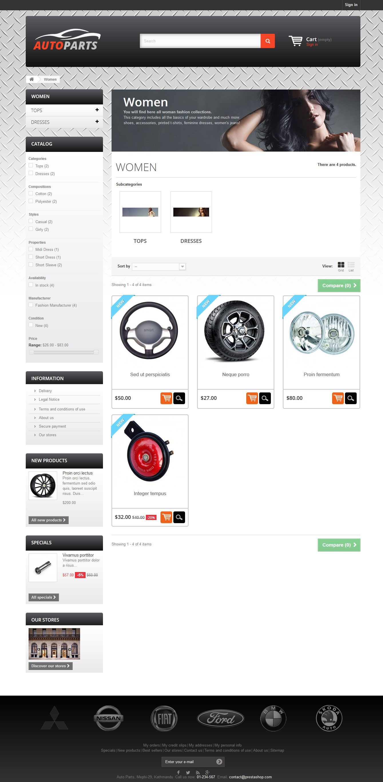 Auto Parts - PrestaShop Theme Screenshot 4
