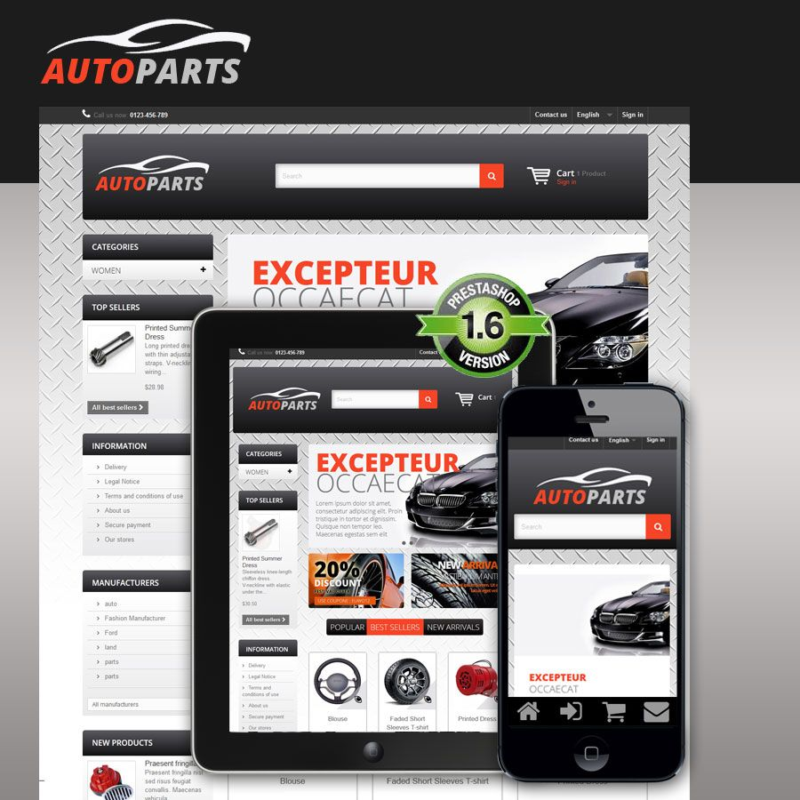 Auto Parts - PrestaShop Theme Screenshot 5