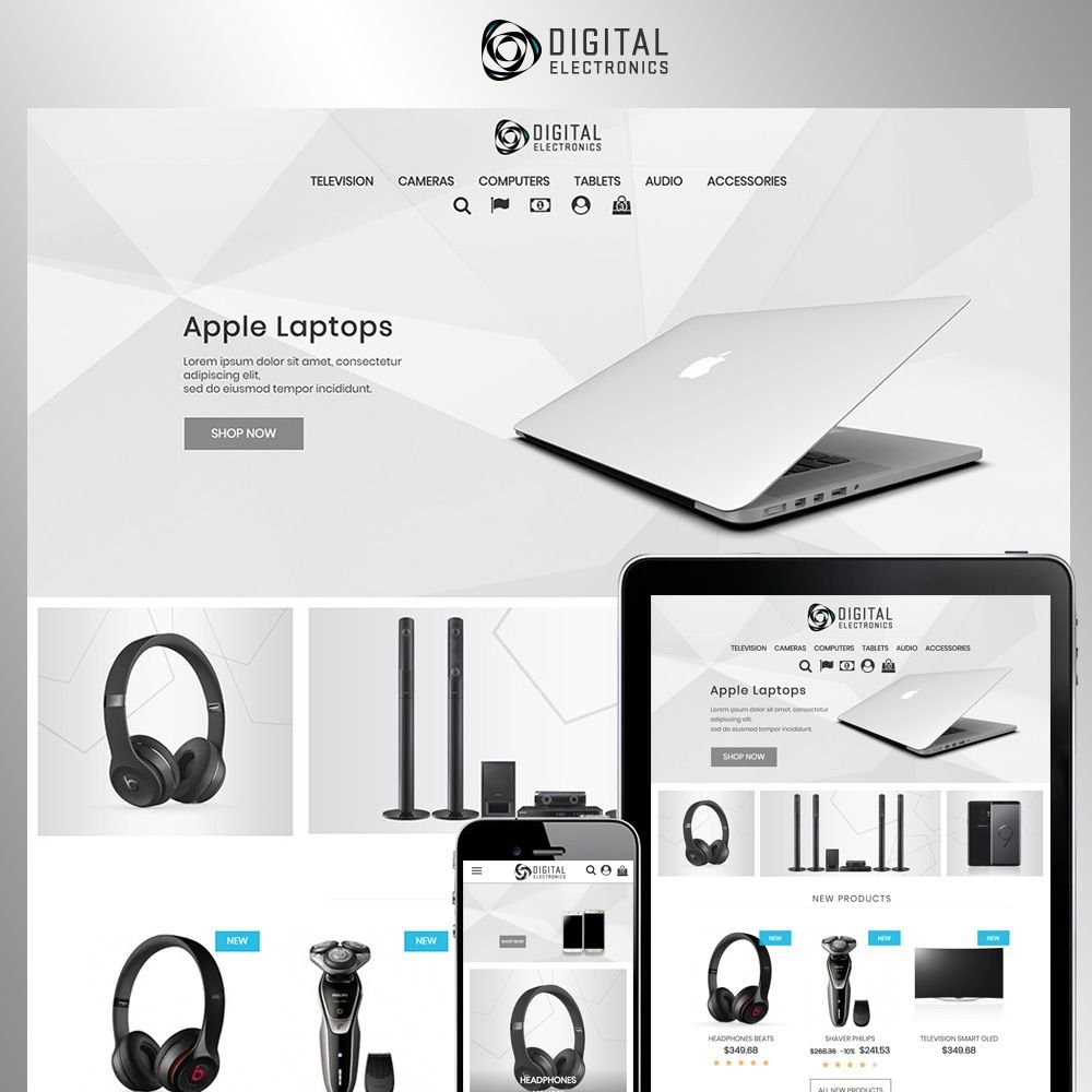 Digital Electronics Store - PrestaShop Theme Screenshot 1