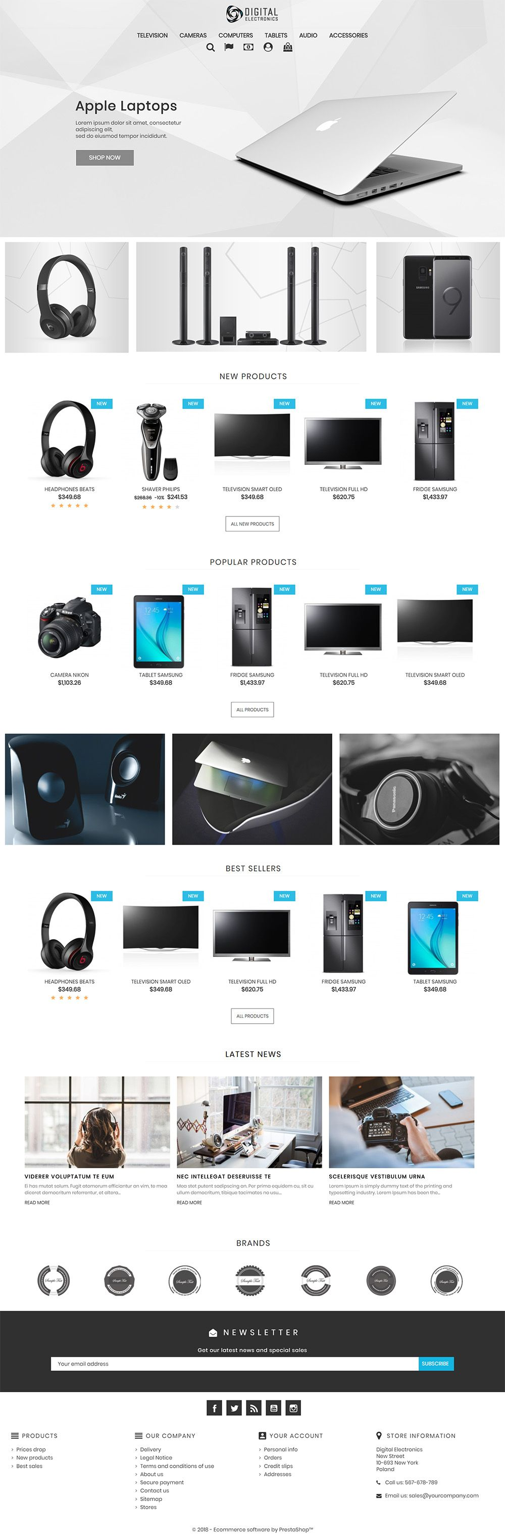 Digital Electronics Store - PrestaShop Theme Screenshot 2