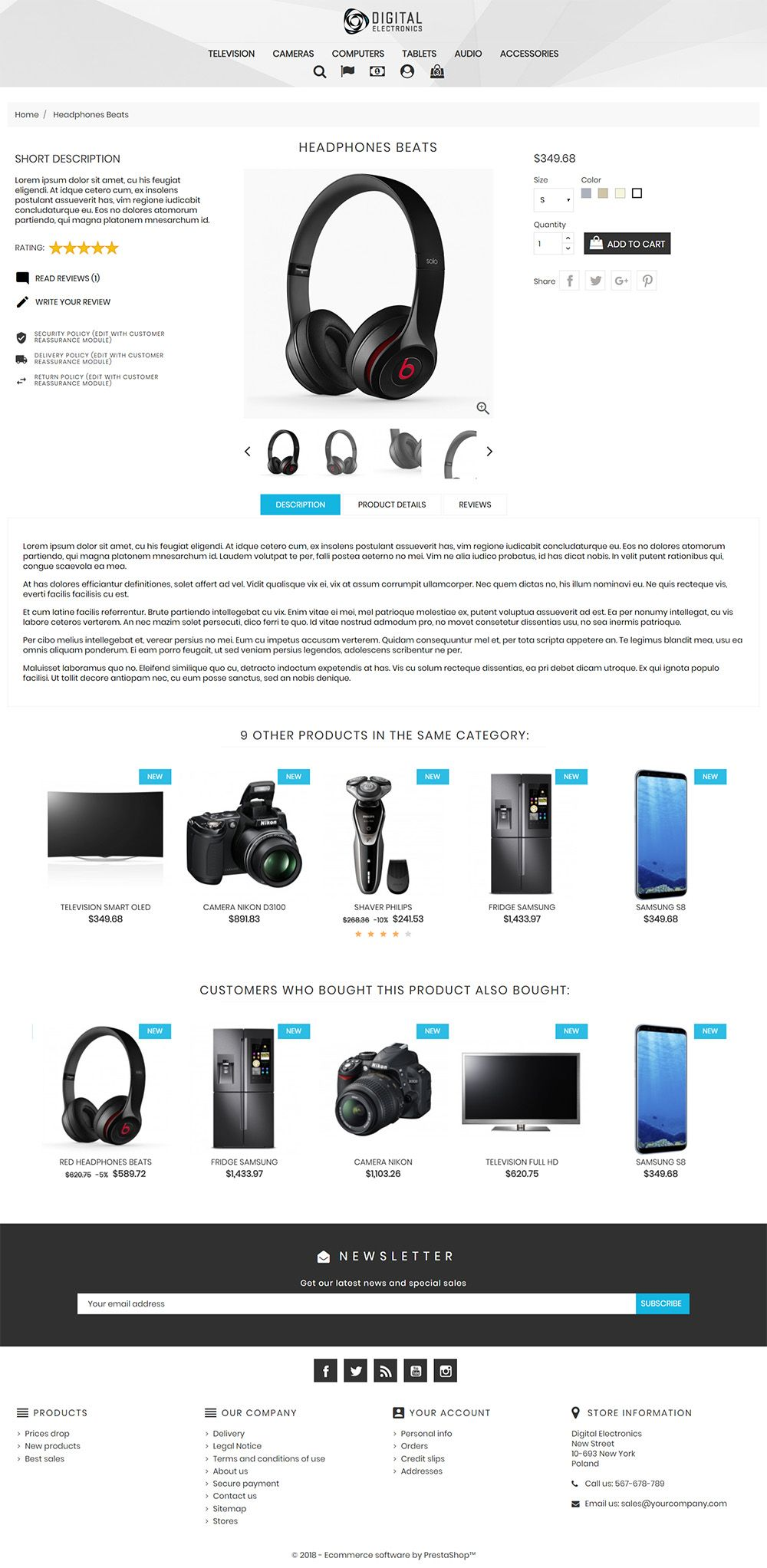 Digital Electronics Store - PrestaShop Theme Screenshot 3