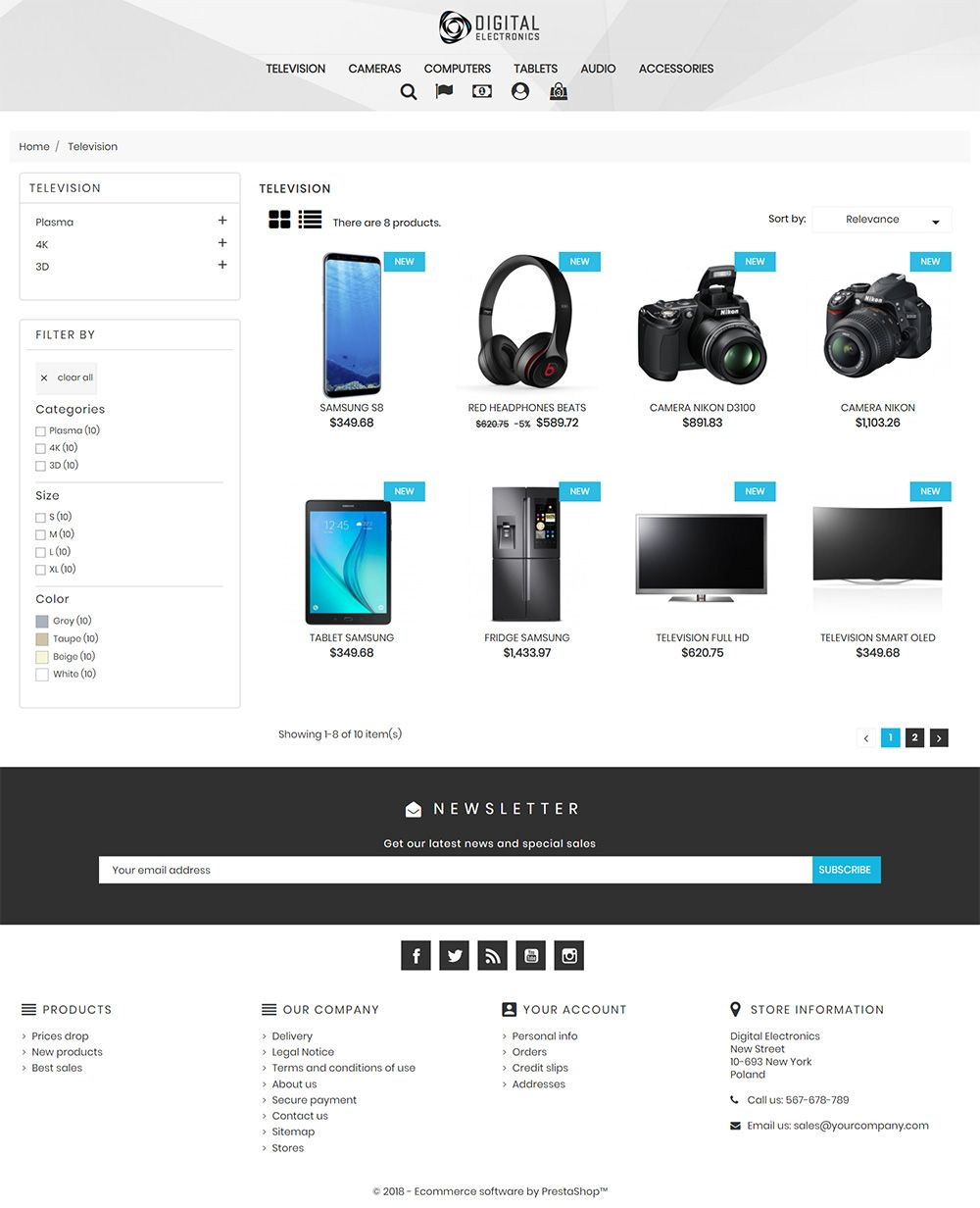 Digital Electronics Store - PrestaShop Theme Screenshot 4
