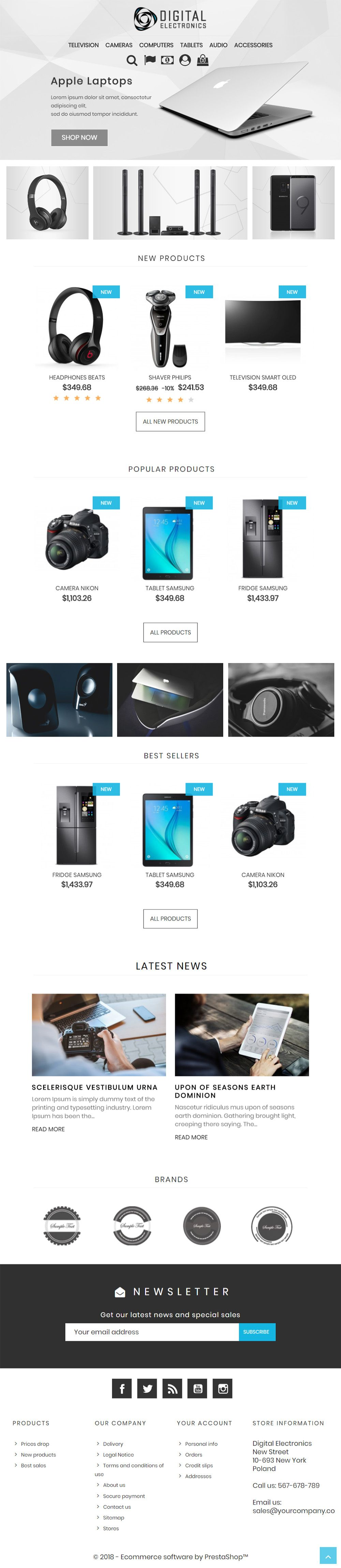 Digital Electronics Store - PrestaShop Theme Screenshot 5