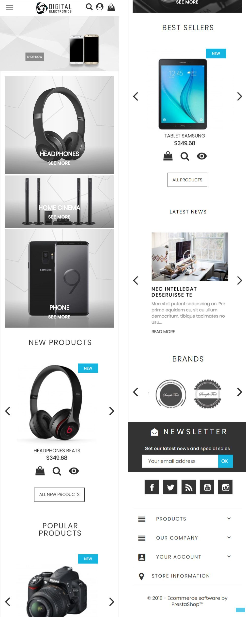 Digital Electronics Store - PrestaShop Theme Screenshot 6