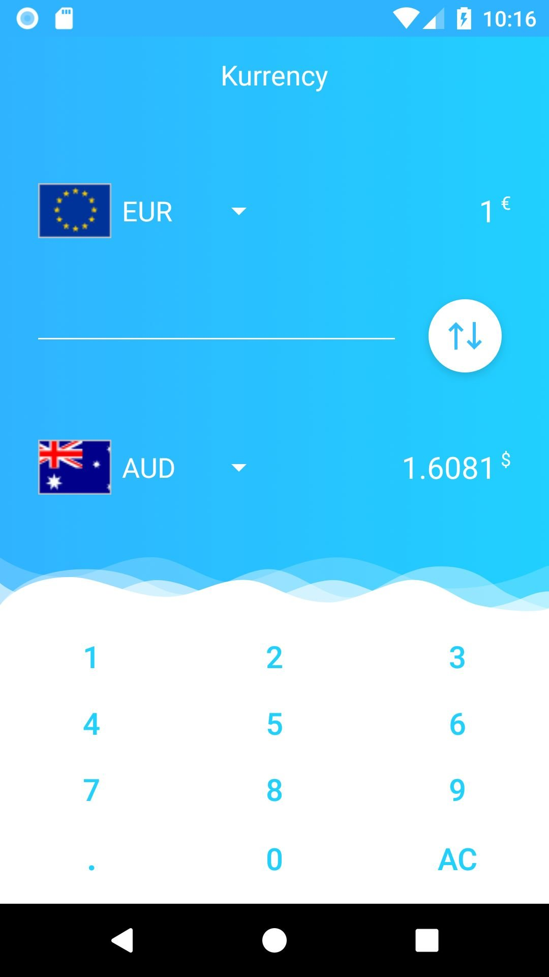 Kurrency - Currency Converter Android Template Screenshot 2