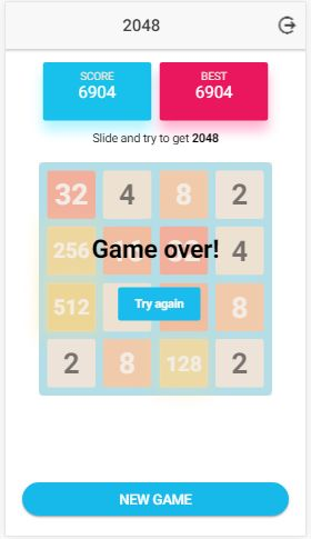 Ion 2048 - Ionic Game Template Screenshot 3