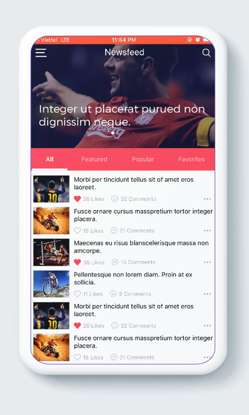 NewsApp Template - React native Screenshot 4