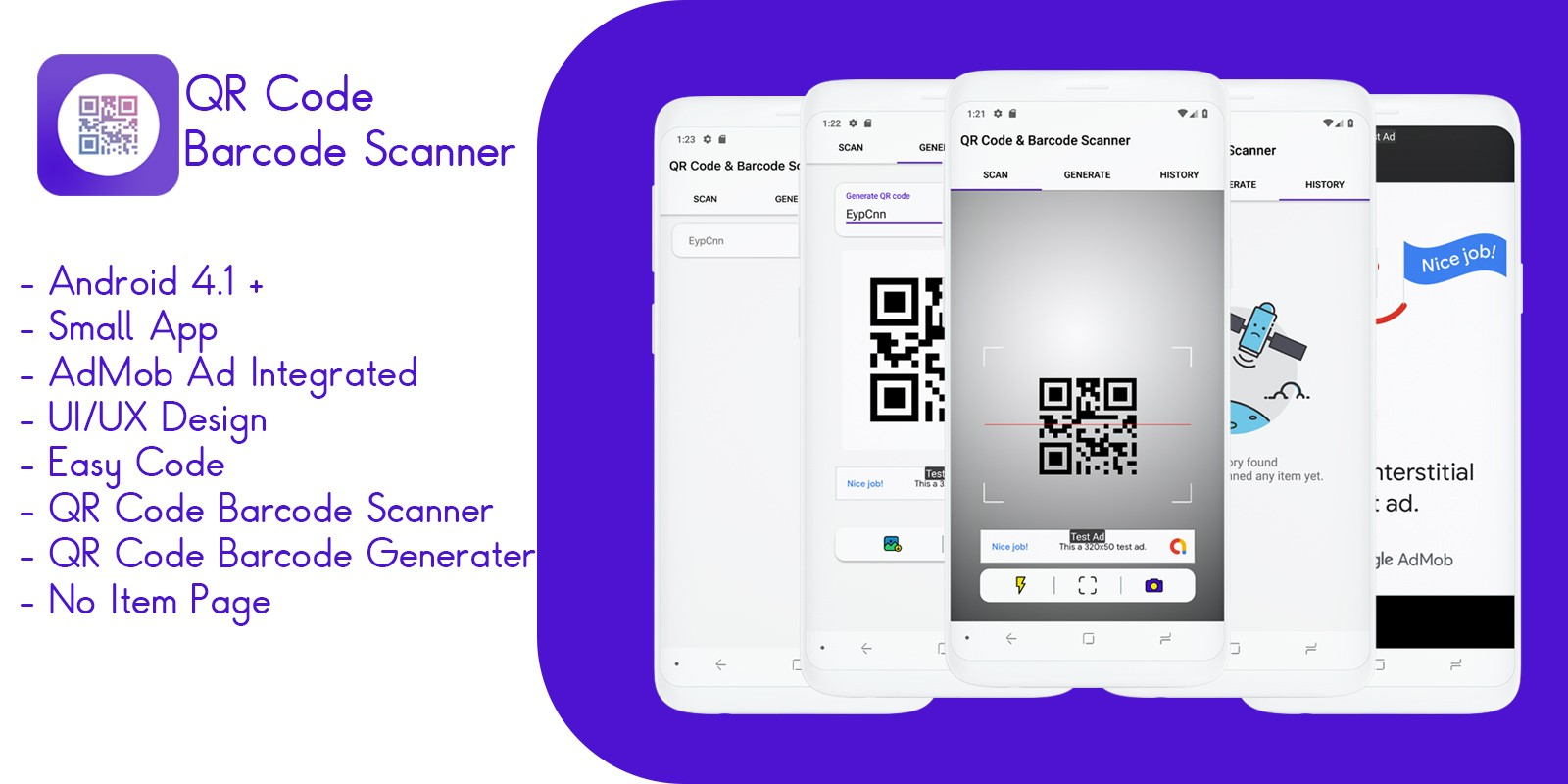 Barcode scanner source code in android