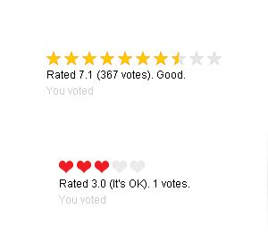 Star Rating System PHP Screenshot 1