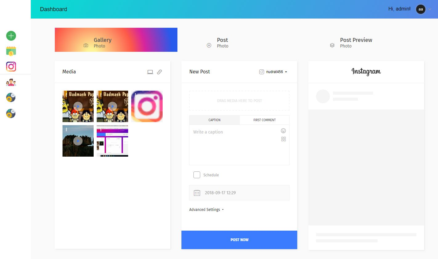 Instagram Autoposter And Scheduler - NimblePost Screenshot 1