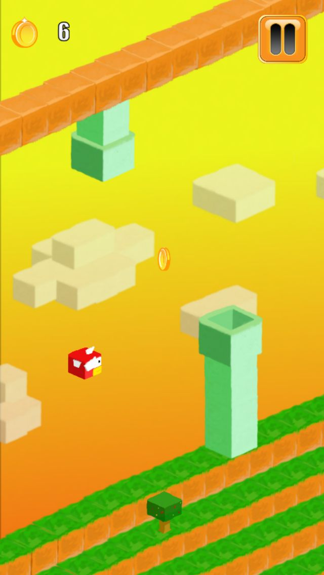 3D Flappy Egde Bird - Buildbox Template Screenshot 1