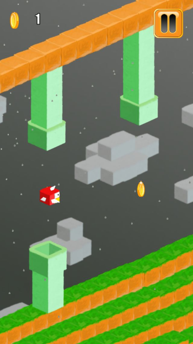 3D Flappy Egde Bird - Buildbox Template Screenshot 2