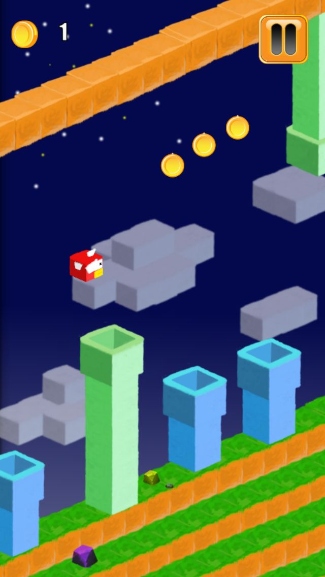 3D Flappy Egde Bird - Buildbox Template Screenshot 3