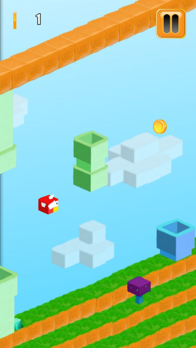 3D Flappy Egde Bird - Buildbox Template Screenshot 4
