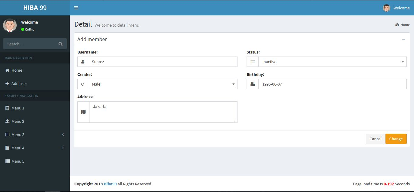 ASP.NET User Data Manage System Screenshot 2