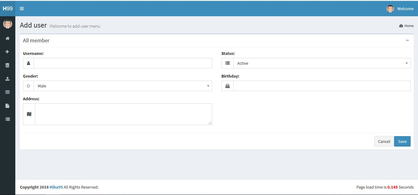 ASP.NET User Data Manage System Screenshot 5