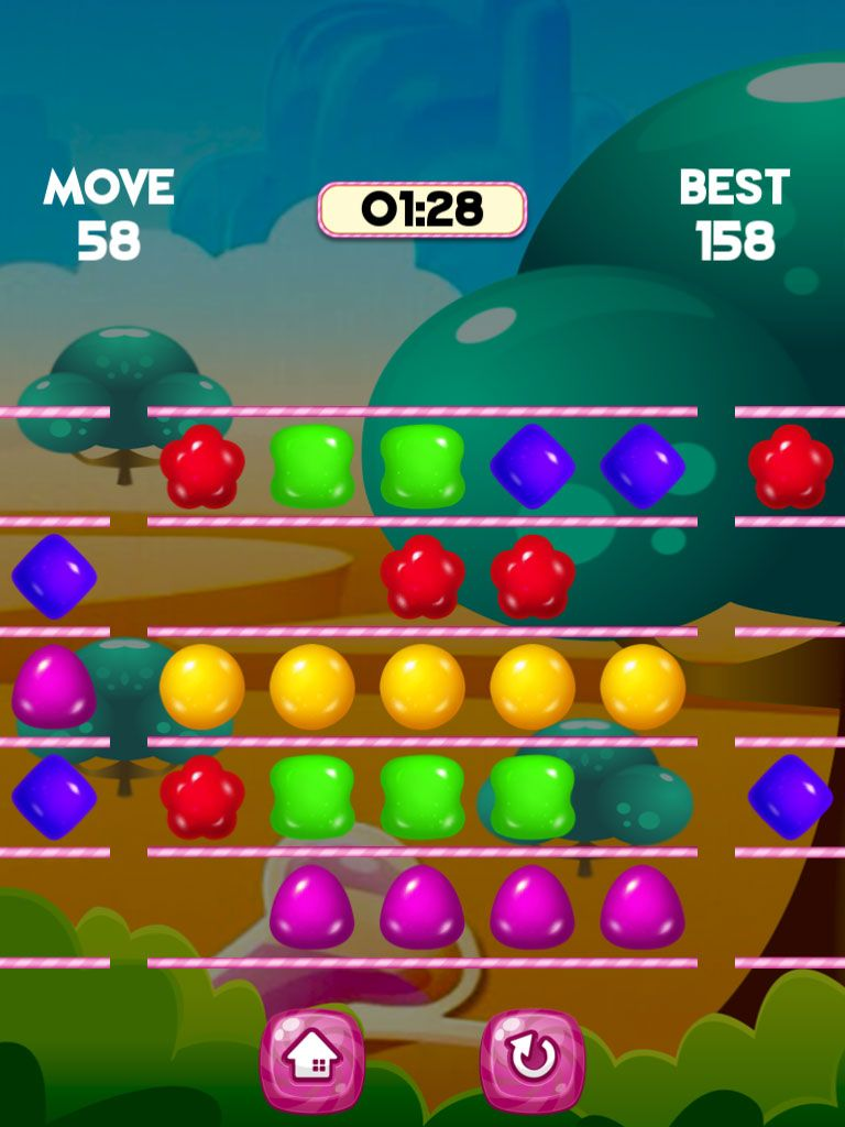 Jelly Swipe Puzzle - iOS Source Code Screenshot 3
