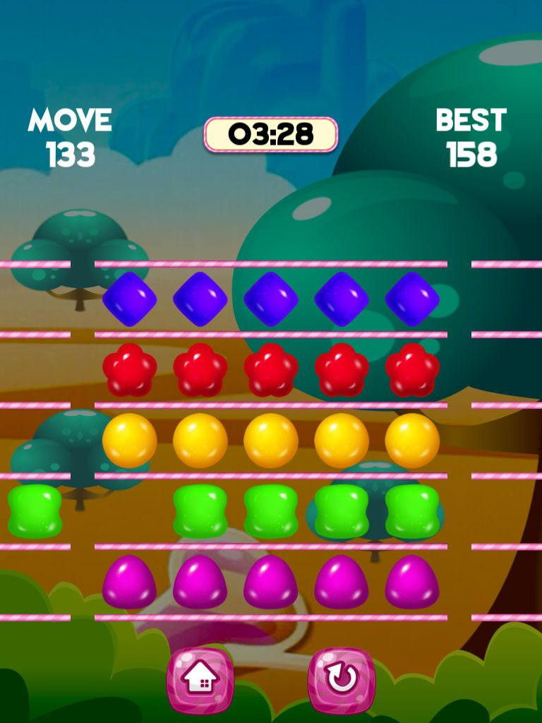 Jelly Swipe Puzzle - iOS Source Code Screenshot 4