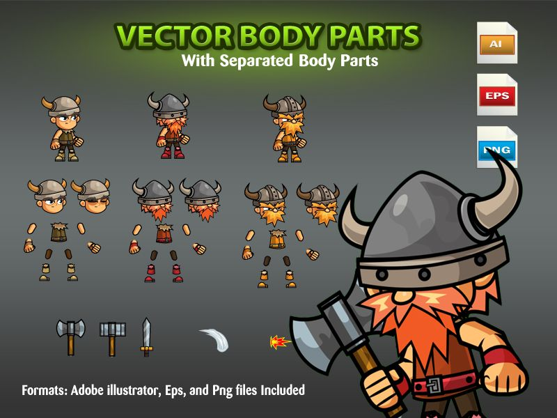 The Vikings 2D Game Character SpriteSheets 06 Screenshot 2
