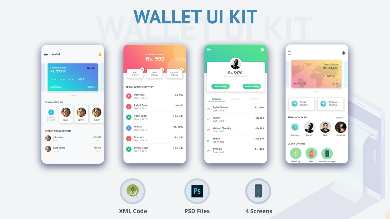 Wallet - Android Studio UI Kit Screenshot 5