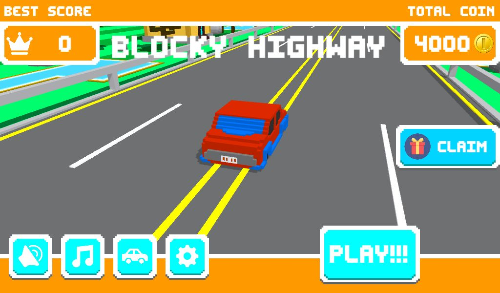 Unity Game Template - Blocky Highway Screenshot 1