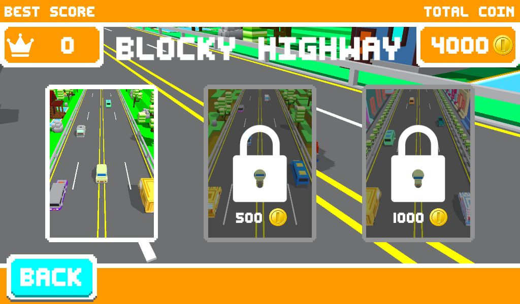 Unity Game Template - Blocky Highway Screenshot 2