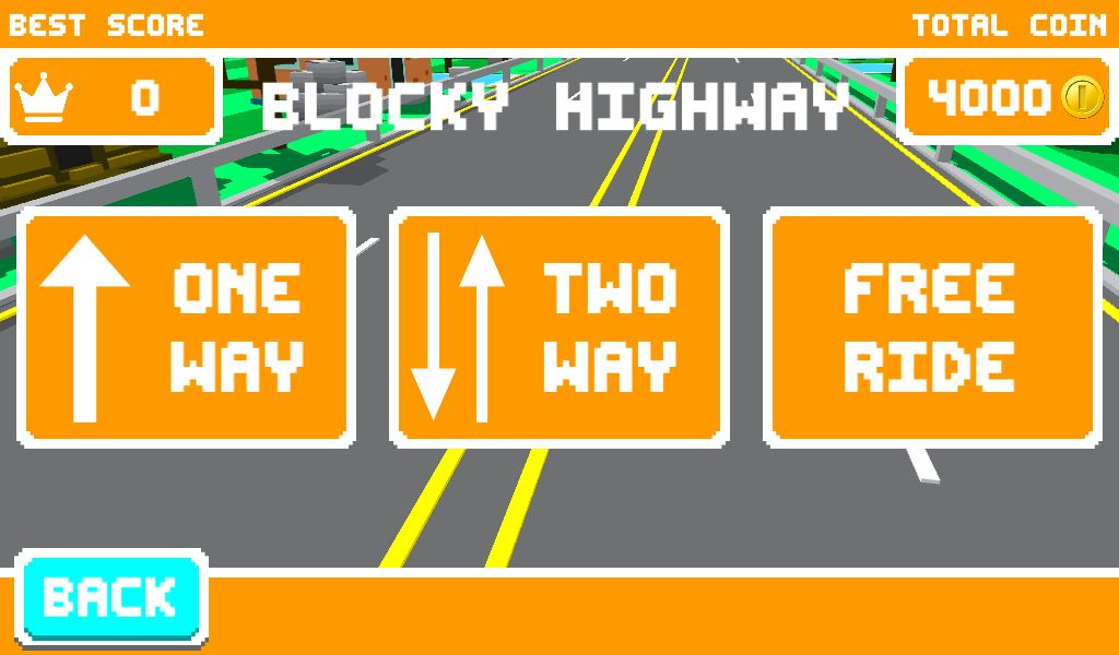 Unity Game Template - Blocky Highway Screenshot 3