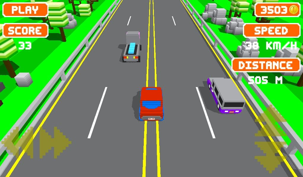 Unity Game Template - Blocky Highway Screenshot 5