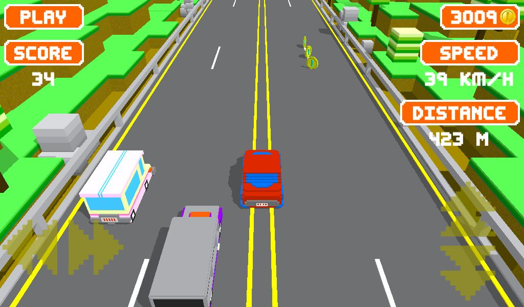Unity Game Template - Blocky Highway Screenshot 6