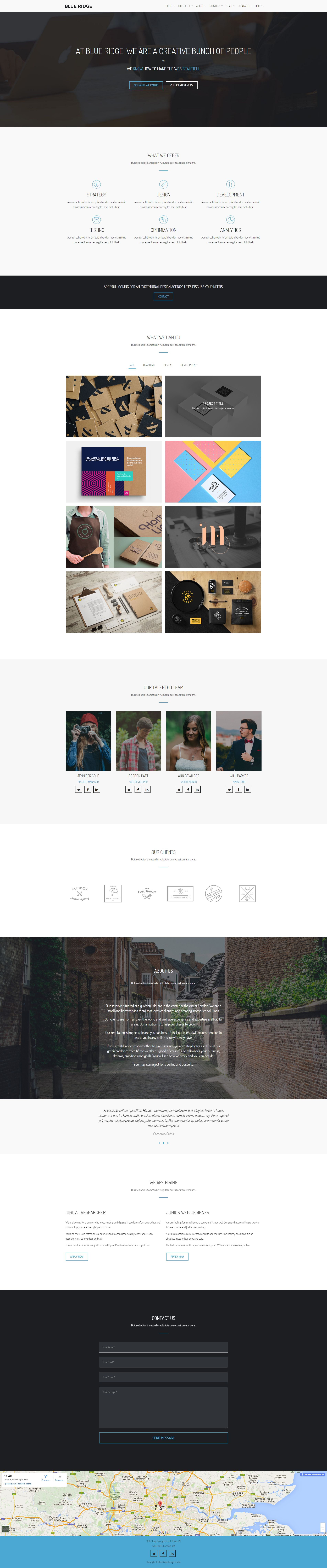 Blue Ridge - MultiPurpose Portfolio HTML Template Screenshot 1