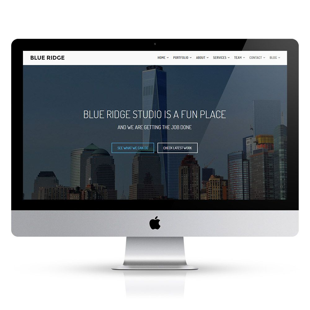 Blue Ridge - MultiPurpose Portfolio HTML Template Screenshot 3