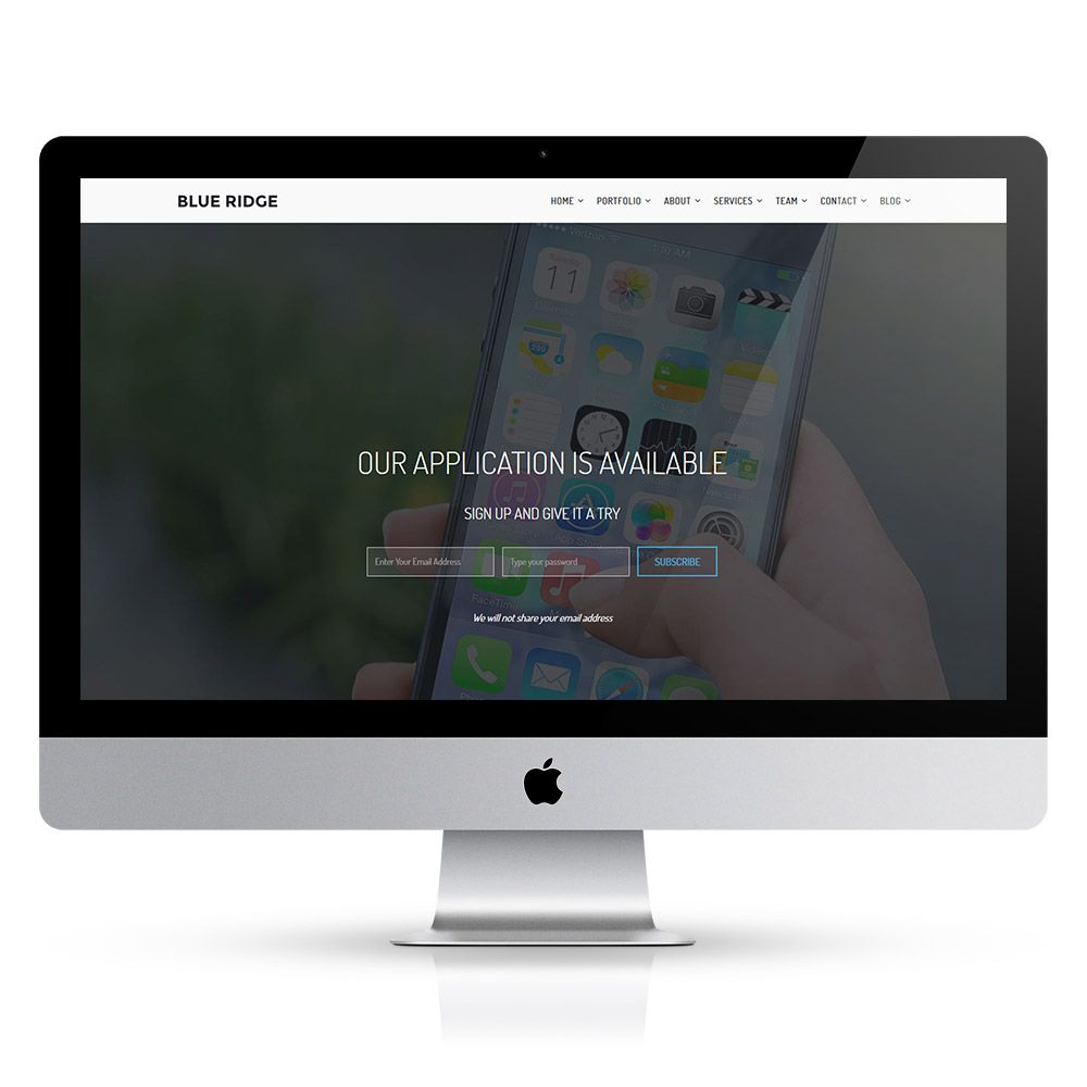 Blue Ridge - MultiPurpose Portfolio HTML Template Screenshot 4