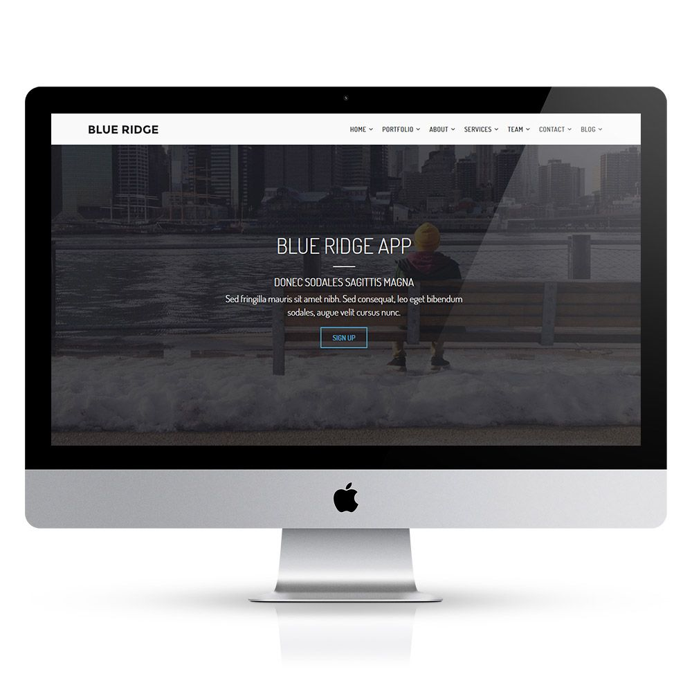 Blue Ridge - MultiPurpose Portfolio HTML Template Screenshot 5