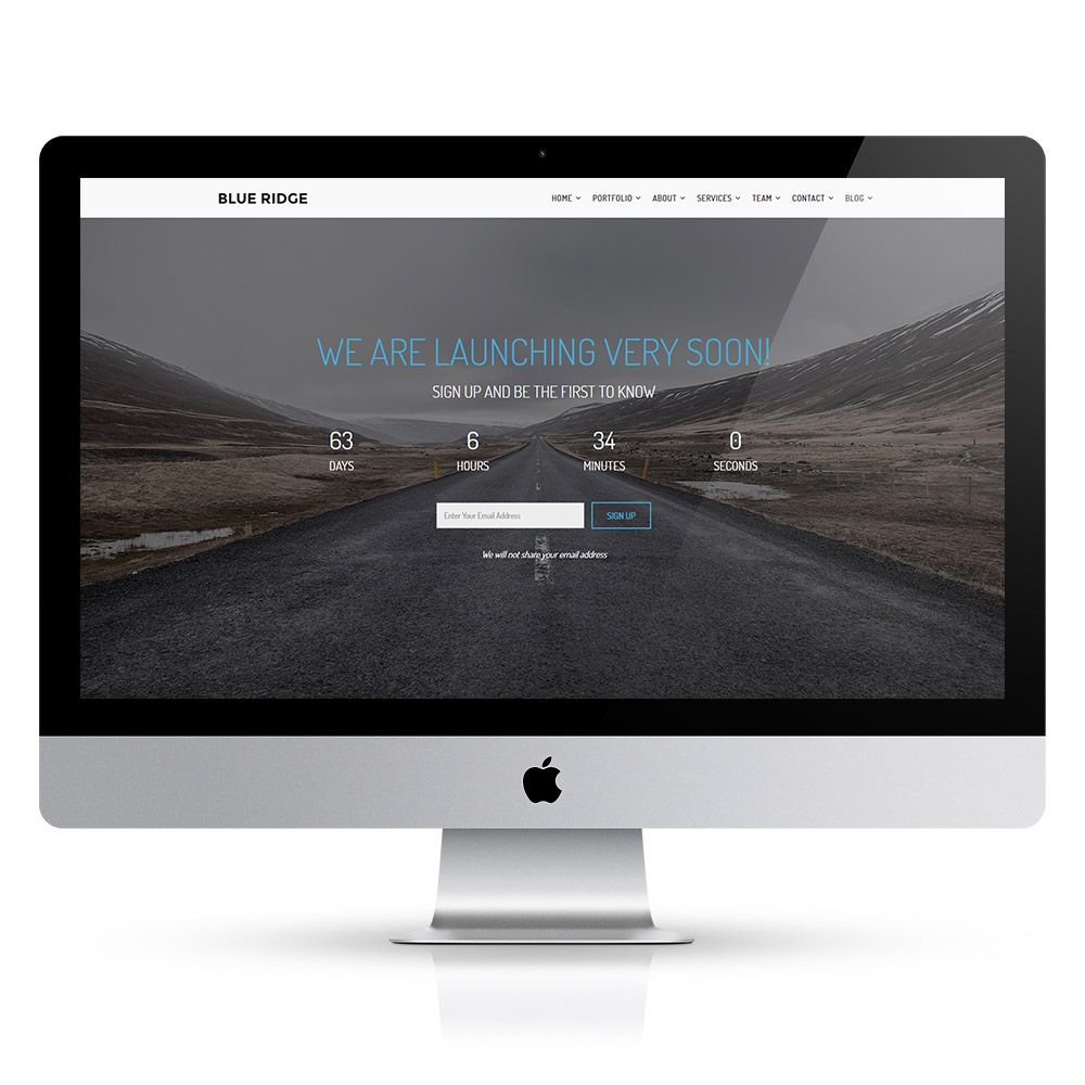 Blue Ridge - MultiPurpose Portfolio HTML Template Screenshot 6