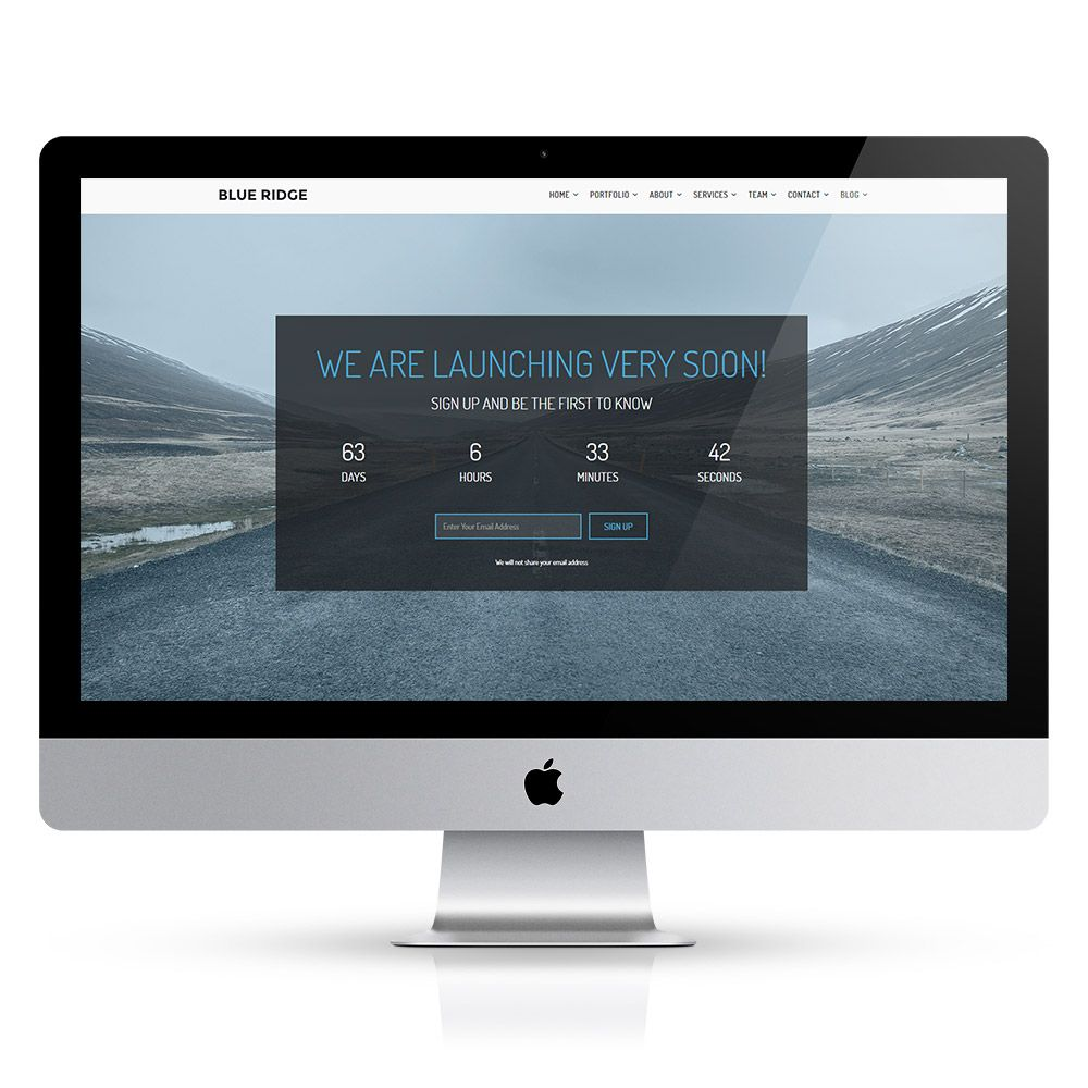 Blue Ridge - MultiPurpose Portfolio HTML Template Screenshot 7