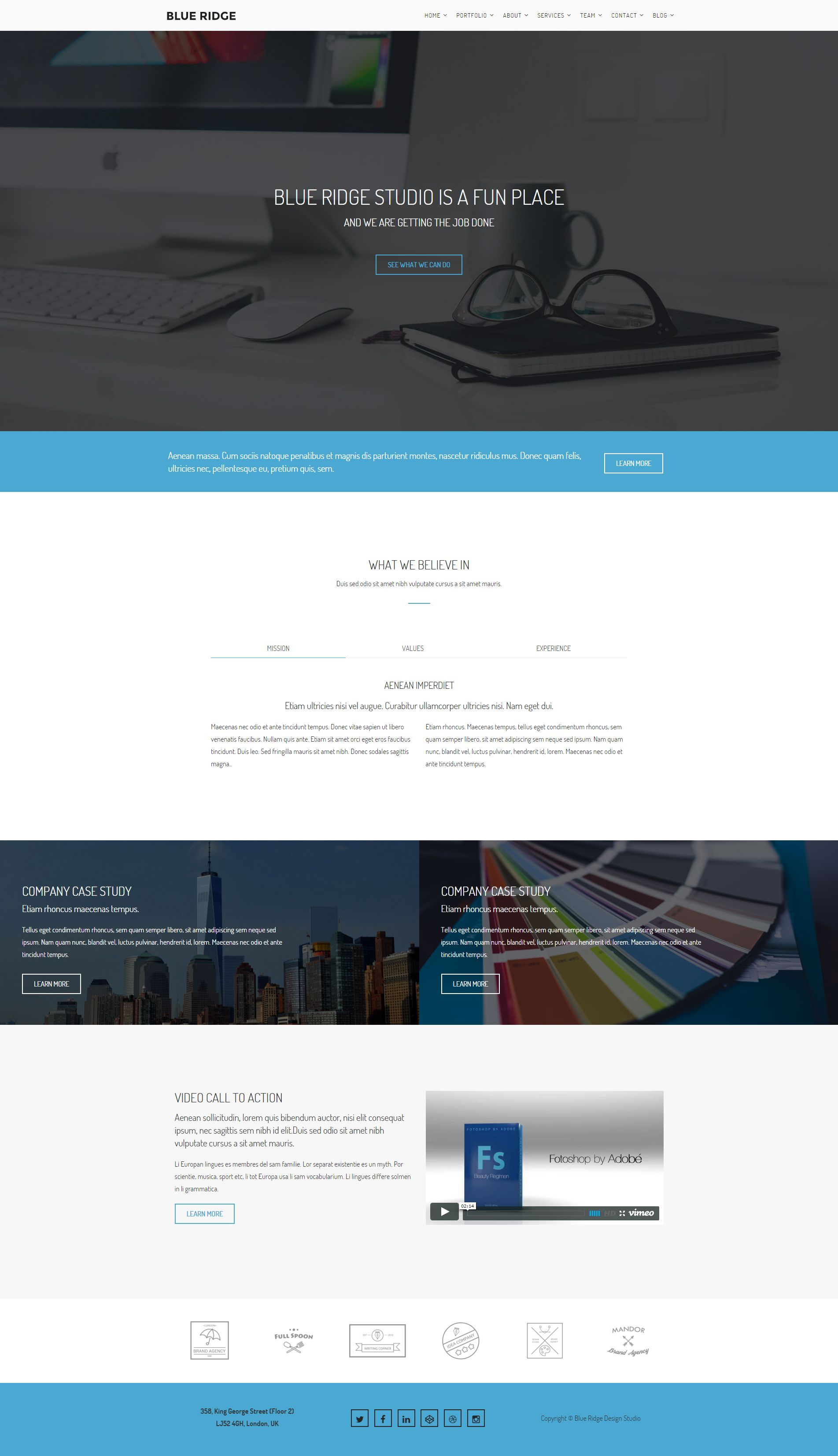 Blue Ridge - MultiPurpose Portfolio HTML Template Screenshot 9