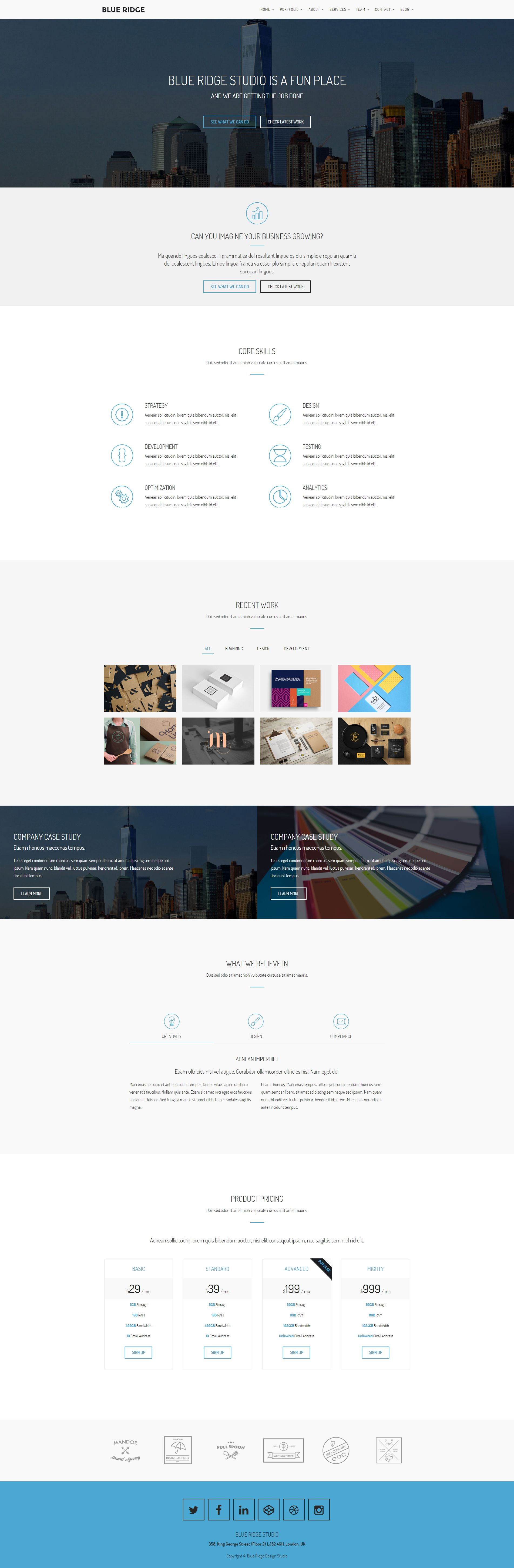 Blue Ridge - MultiPurpose Portfolio HTML Template Screenshot 10