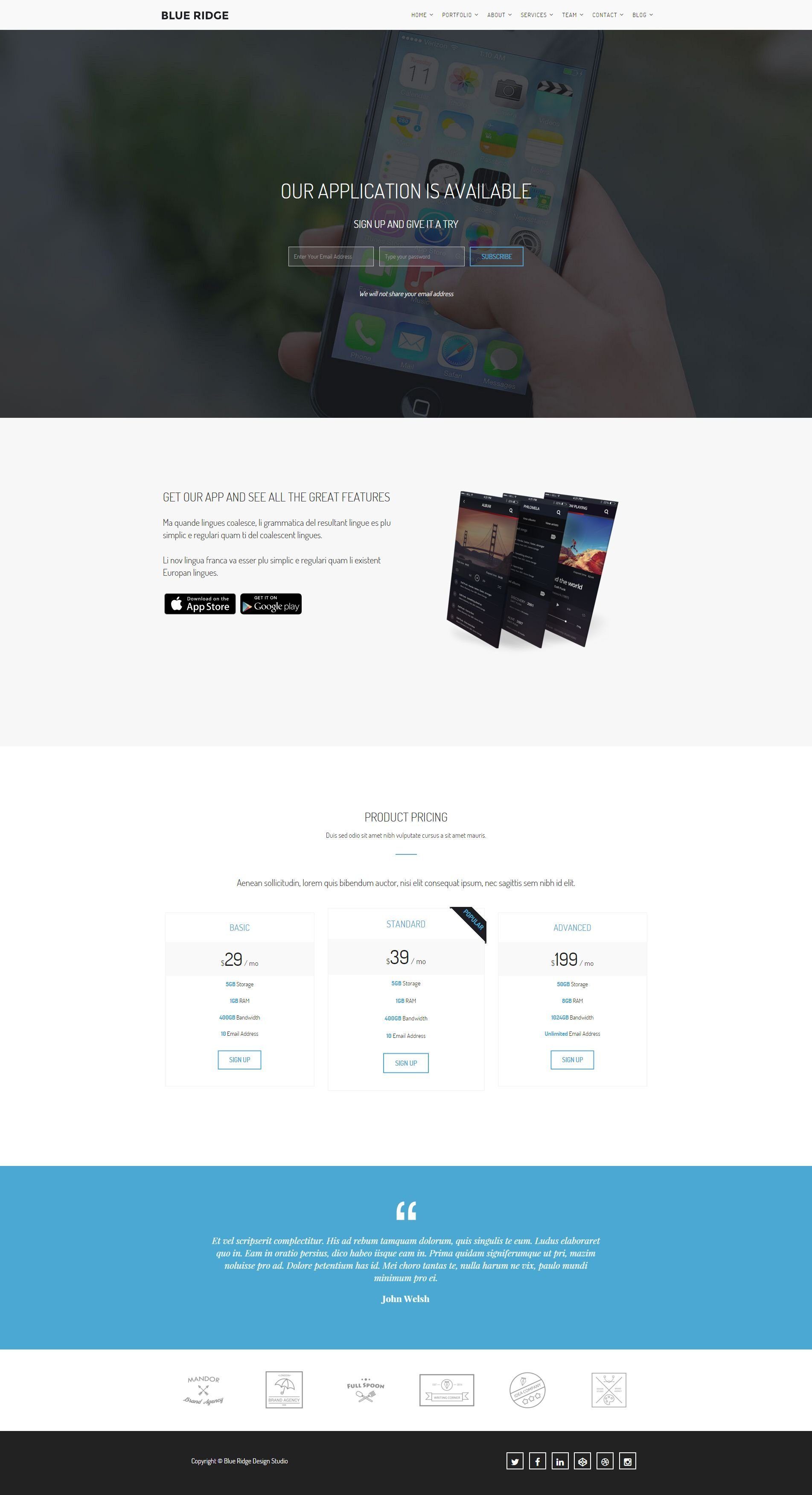 Blue Ridge - MultiPurpose Portfolio HTML Template Screenshot 11