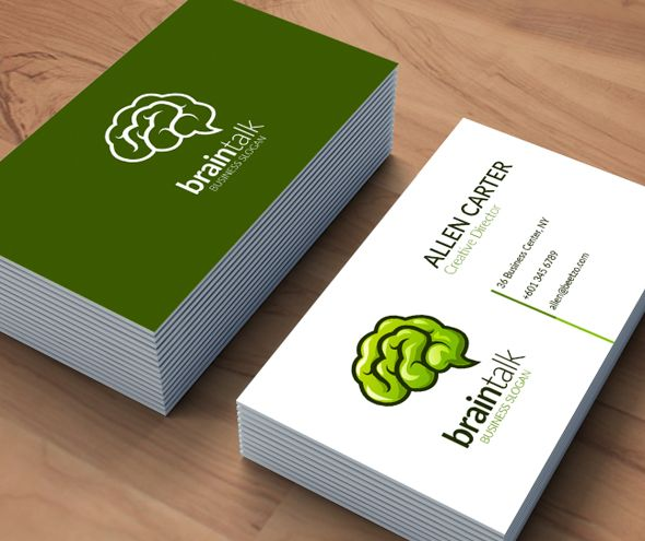 Think Green Brain Logo in Vector Format	 Screenshot 1