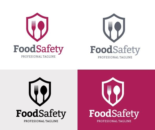 Food Safety Logo Concept In Vector Format Screenshot 1