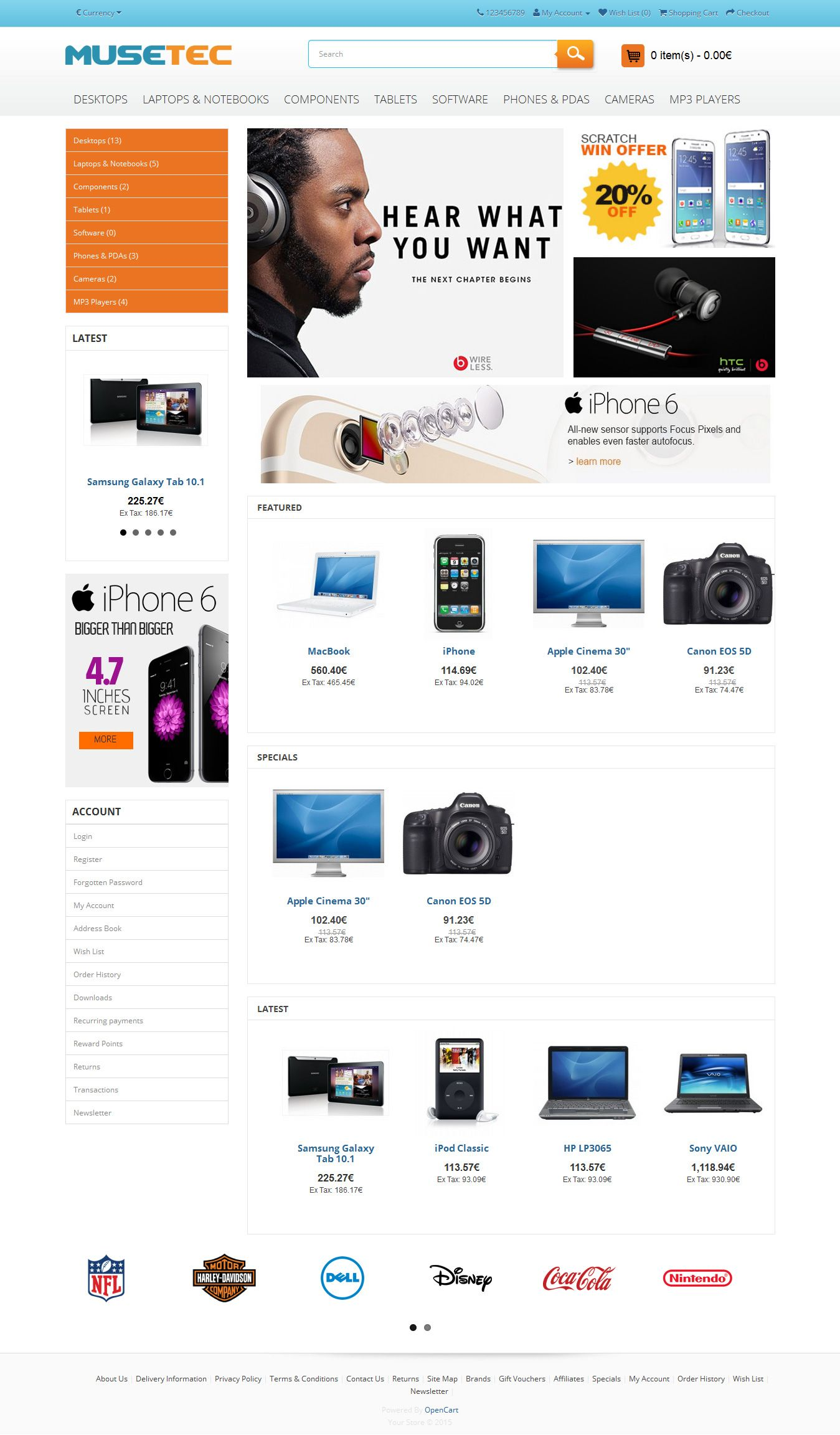 Muse Tec - Responsive OpenCart Theme Screenshot 2