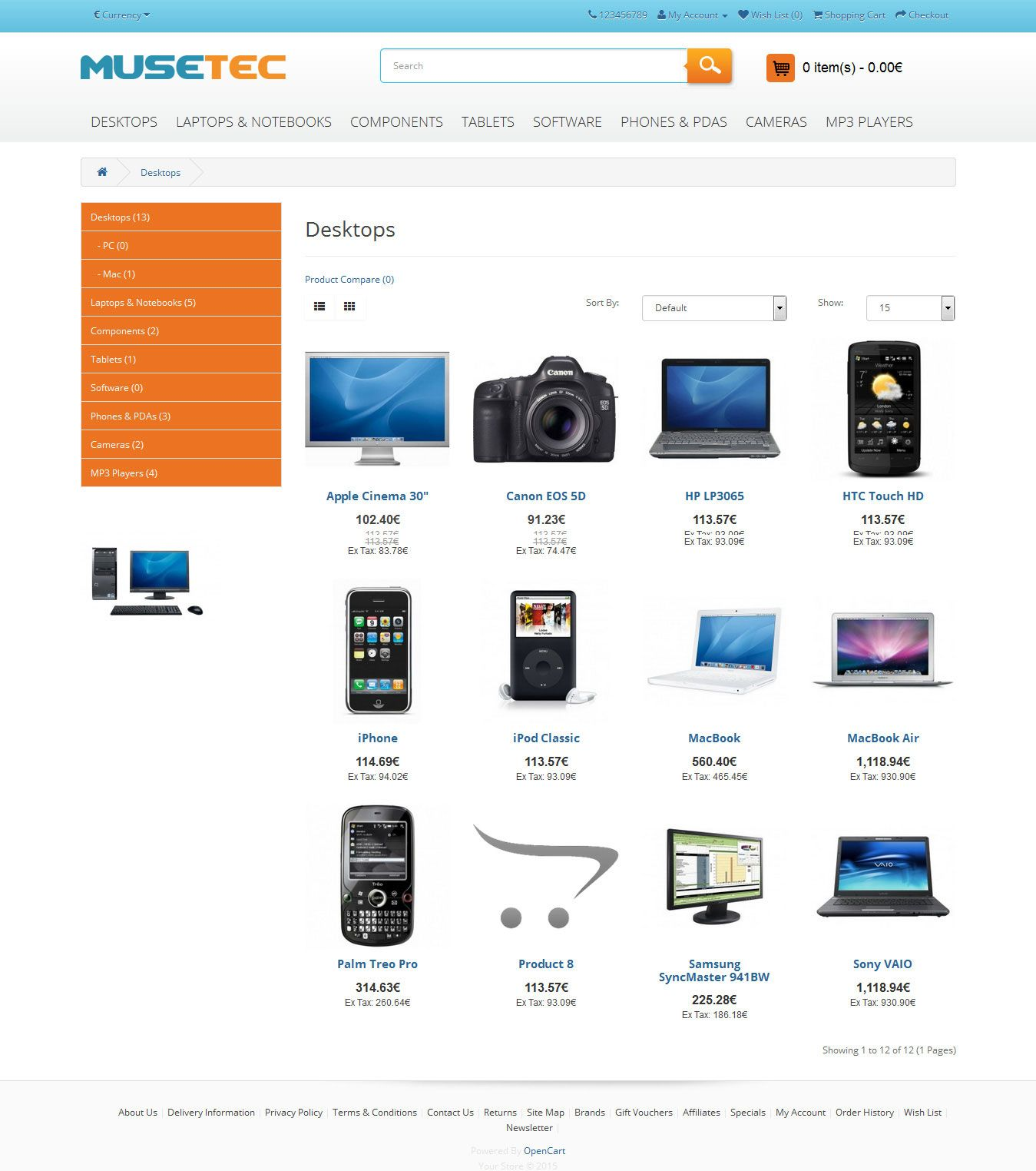 Muse Tec - Responsive OpenCart Theme Screenshot 5